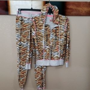 """Tiger Print Blk/Tan Joggers(bottoms) """"Only"""""""